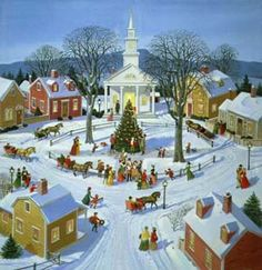 christmas fantasy house | christmas home page villages country scenes homes winter christmas ...