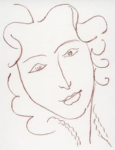 Henry Matisse_female-portrait1 Simplistic yet so good - especially the eyes.