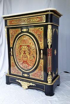 magnifique meuble d appui boulle 1 porte poque napolon iii