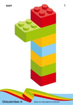 Figures from lego 1 for toddlers, number kleuteridee.nl, Lego numbers for preschool free printable. Lego For Kids, Math For Kids, Fun Math, Lego Games, Math Games, Lego Duplo, Numbers Preschool, Preschool Activities, Legos