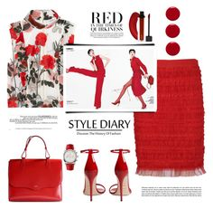 """Red"" by terry-tlc ❤ liked on Polyvore featuring Gucci, Givenchy, Ganni, Rochas, Breitling, Spring, fashionset and polyvoreeditorial"