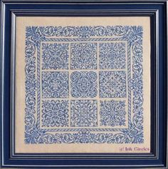 BAROQUE Counted Cross Stitch CHART Ink Circles NEW Pattern