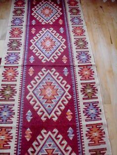 Handwoven Turkish kilim Handwoven carpet -31.5inçx78.5inç
