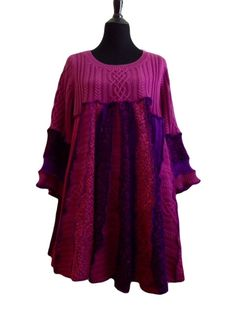 Pink Tunic Top-XL by LauraAnnLyon on Etsy