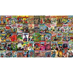 York Wallcoverings Walt Disney Kids II Marvel Classic Comic Wall Mural |  Bedroom Ideas For Boys | Pinterest | Walt Disney Kids, Classic Comics And  Wall ...