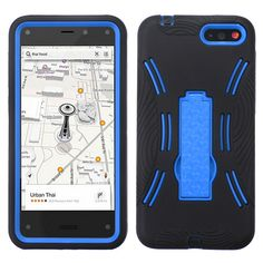 MYBAT Symbiosis KickStand Case for Amazon Fire - Dark Blue/Black