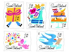 Finland - Booklet of five Class Stamps Booklet Design, Postage Stamps, Finland, Recovery, Congratulations, Leaflet Design, Stamps, Survival Tips, Healing