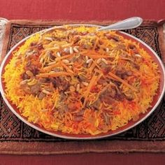 A delicious recipe which I would like to introduce Saudi Kabsa that contain rice and meat it is one of the famous traditional dish. Ingredients: 3 table spoon oil 750g lamb meat with its bones...