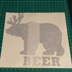 BearDeer=Beer get this decal and more at decalhunter.com