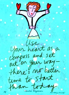 January quote #SandraMagsamen #quotes #pink #inspiration #compass #starttoday #findyourway