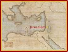 Map showing Jerusalem