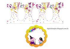Carnaval con Peppa Pig: Stand para Cupcakes para Imprimir Gratis.