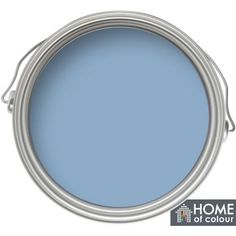 Home of Colour China Blue - Matt Emulsion Paint - 2.5L Available from Homebase