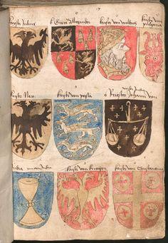 Wernigeroder (Schaffhausensches) Wappenbuch Süddeutschland, 4. Viertel 15. Jh. Cod.icon. 308 n  Folio 17r