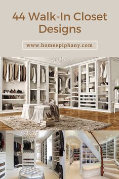 These 44 walk in closets will leave you in awe (photo gallery) Walk In Closet Design, Closet Designs, Modern Interior, Interior And Exterior, Dressing Room Closet, Window Styles, Good House, Cool House Designs, Other Rooms