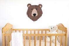 Nursery Wall Art. Kids Room Decor Art. Wooden Bear Art. Animal art. Nursery Decor. Wooden Sign. Baby Gift Kids Room Wall Art, Nursery Wall Art, Nursery Decor, Room Decor, Wooden Wall Art, Wooden Walls, Wooden Signs, Wooden Animals, Bear Art