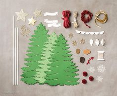 Forever Evergreen Project Kit by Stampin' Up! 3d Tree, Paper Stars, Greeting Cards Handmade, Decoration, Kit, Stampin Up, Cricut, Diy Crafts, Holiday Decor