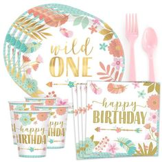 Check out Boho Birthday Girl Standard Tableware Kit (Serves from Wholesale Party Supplies First Birthday Theme Girl, 1st Birthday Party Supplies, 1st Birthday Party For Girls, Birthday Ideas, 3rd Birthday, Birthday Photos, Birthday Decorations, Birthday Gifts, Elmo