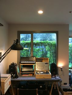 Temporary work space / making music / home studio