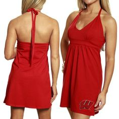 NCAA My U Wisconsin Badgers Ladies Cardinal Embroidered « Dress Adds Everyday