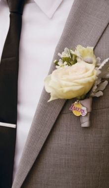Add a sports charm to the boutonnieres and bouquets for the groomsmen and bridesmaids Wedding Ideas To Make, Wedding Day Inspiration, Wedding Stuff, Wedding Planning Checklist, Wedding Attire, Make It Simple, Real Weddings, How To Plan, Cultural Center