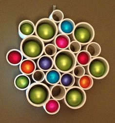 A unique wreath or display that can be used indoors or outdoors. It can hang on any type of wall allowing the color or texture of the wall to shine