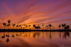Alex Baltov Photography    -    Fiery springtime sunset on Mission Bay.  4.2.15