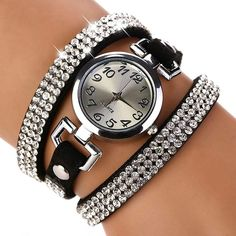 Cheap XR689, Buy Directly from China Suppliers:               Product Name :2016 New Luxury Rhinestone Leather Round Bracelet Wristwatches Women Watch Dress Watch Vint