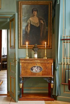 Empire Cabinet, Early 19th century. Tidö Castle (Swedish: Tidö slott), Västerås, Sweden