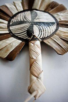 tongan tapa craft - fan