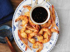 Spicy, Crunchy Shrimp With Honey-Soy Dipping Sauce