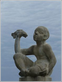 statue of Boy with Fish in Basel by Mo Westein 1, via Flickr