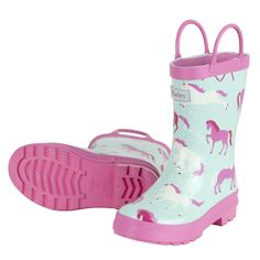Hatley Pink & White Dots Rain boots - Quality Kids Raingear at SugarBabies