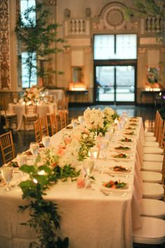 Tablescape, Cadre Building, Flowers by: Garden District - Memphis Wedding http://caratsandcake.com/rye