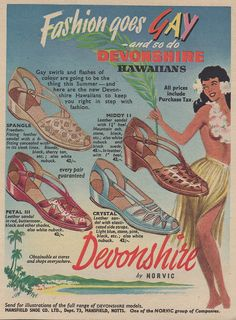 Devonshire Fashion goes gay. And Hawaiian. All at the same time. #shoes