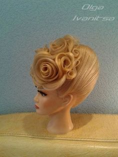 modes   - coiffures -   #coiffures #modes Dance Hairstyles, Elegant Hairstyles, Peinado Updo, My New Haircut, Competition Hair, Hair Upstyles, Editorial Hair, Braids Wig, Glam Hair