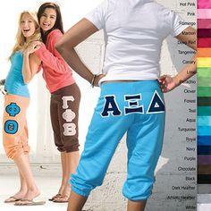 Sorority Ladies' Capri Pants $36.95 #Greek #Sorority #Clothing