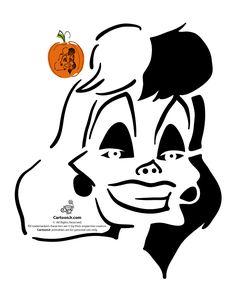 Classic Disney Pumpkin Stencils Cruella De Vil Disney Villain Pumpkin Pattern – Cartoon Jr.