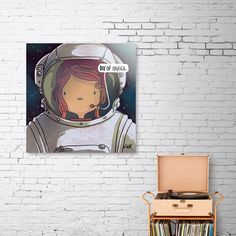 Discover «Astronaut», Limited Edition Aluminum Print by xenia pamfil - From $65 - Curioos Aluminium Sheet, Astronaut, High Gloss, Things To Come, Prints, Design, Astronauts