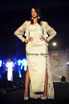 Algerian Fashion: white karakou dress