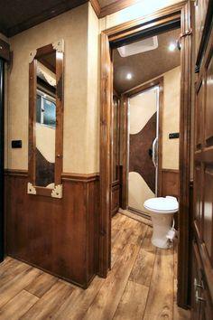 Interior of horse trailer