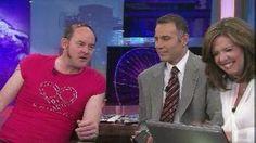 T-Bone (aka comedian David Koechner) disrupts weather, hits on Robin