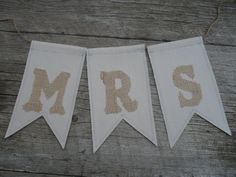 Mr & Mrs Banner by HRJdesigns on Etsy