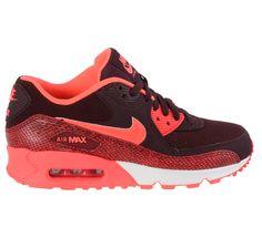 Fraaie Nike Air Max 90 Sneakers Dames (bordeaux rood - roze) Sneakers van het merk Nike voor Dames . Uitgevoerd in bordeaux rood - roze gemaakt van ...