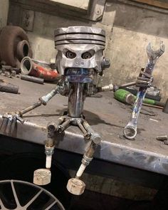 Your place to buy and sell all things handmade Welding Art Projects, Metal Art Projects, Diy Welding, Metal Crafts, Blacksmith Projects, Car Part Furniture, Automotive Furniture, Automotive Decor, Art En Acier