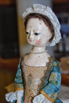 "10"" Prudence, hand carved Queen Anne doll....."