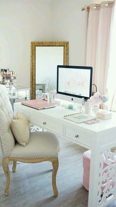 The chair, the foot stool, table top, mirror and the nail polish corner