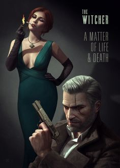 A modern, noir, depiction of The Witcher 3 by Ástor Alexander - Album on Imgur