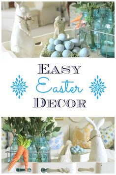 Easy Easter Decor Vingette Ideas from On Sutton Place