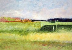 """Sagg Pond Vineyard"" by Ty Stroudsburg, 2004. Oil on linen, 24 x 32 inches. Gift of artist, Guild Hall Permanent Collection."